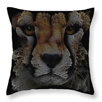 The Face Of A Cheetah Throw Pillow by ISAW Gallery