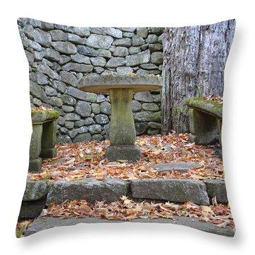 The Fells Historic Estate In Newbury Nh Usa Throw Pillow by Erin Paul Donovan