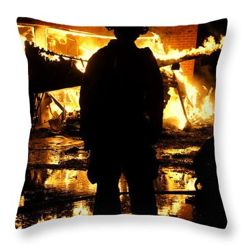 The Fireman Throw Pillow by Benanne Stiens
