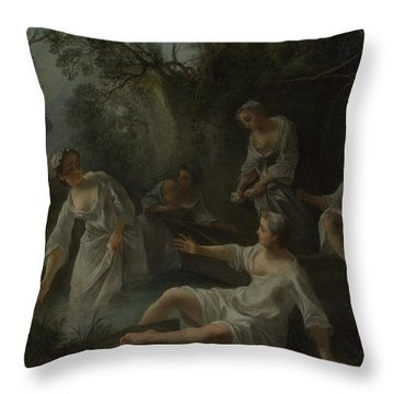 The Four Times Of Day   Evening Throw Pillow