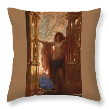 The Gates Of Dawn Throw Pillow by Herbert James Draper