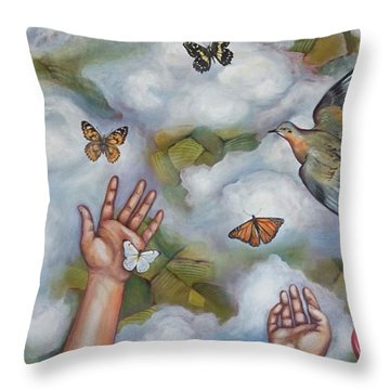 The Gift Throw Pillow by Sheri Howe