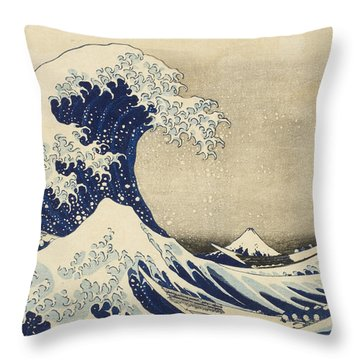 Hokusai Throw Pillows