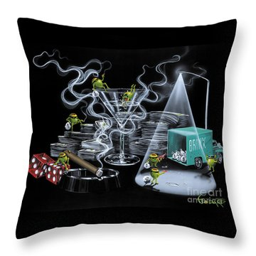 The Heist Throw Pillow