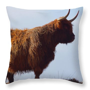 The Highland Cow Throw Pillow