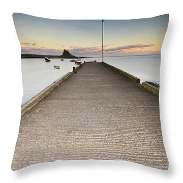 The Holy Island Of Lindisfarne Throw Pillow