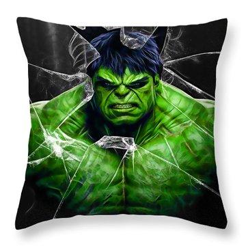 The Incredible Hulk Collection Throw Pillow