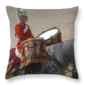 The Kettledrums Of Household Cavalry Throw Pillow by Andrew Chittock