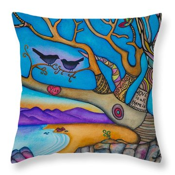 The Kiss And Love Is All There Is Throw Pillow