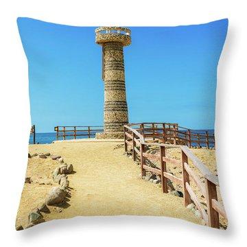 The Lighthouse In Salinas, Ecuador Throw Pillow