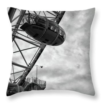 The London Eye Throw Pillow by Martin Newman