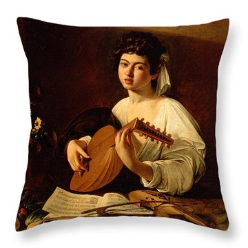 The Lute-player Throw Pillow
