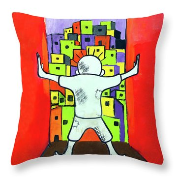 Throw Pillow featuring the photograph The Man by Munir Alawi