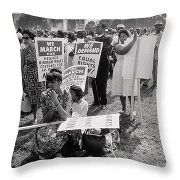 The March On Washington  At Washington Monument Grounds Throw Pillow