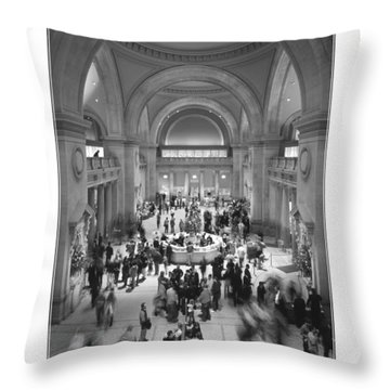 The Metropolitan Museum Of Art Throw Pillow by Mike McGlothlen