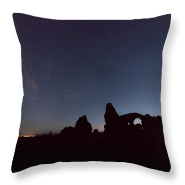 Throw Pillow featuring the photograph The Milky Way by Jim Thompson