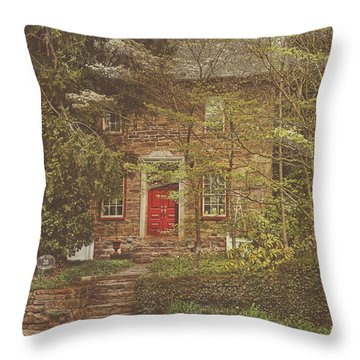 The Mill House Throw Pillow