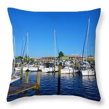 The Naples City Dock Throw Pillow