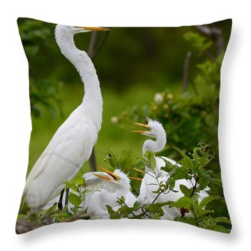 The Nest  Throw Pillow by Kathy Gibbons