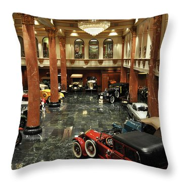 Grand Salon At The Nethercutt Throw Pillow by Kyle Hanson