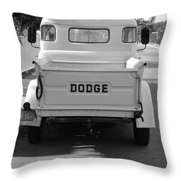 The Old Dodge  Throw Pillow by Rob Hans