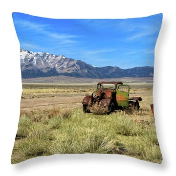 Throw Pillow featuring the photograph The Old One by Robert Bales