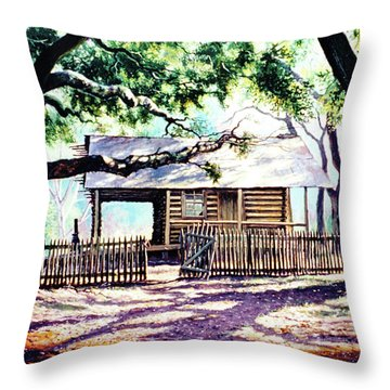The Old Richardson Place Throw Pillow