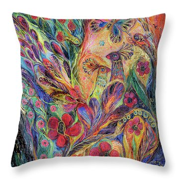 The Olive Tree Throw Pillow by Elena Kotliarker