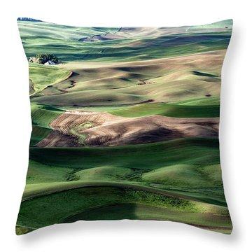 The Palouse Throw Pillow
