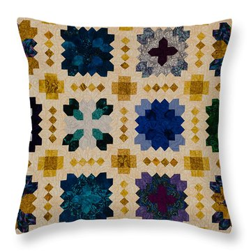 The Patchwork Of The Crosses Throw Pillow