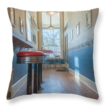 The Pie Shop Throw Pillow