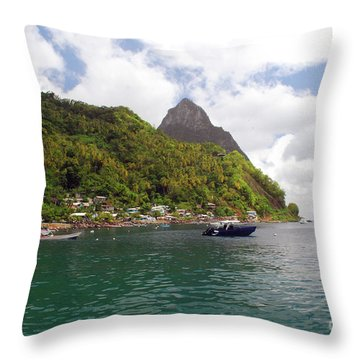 Throw Pillow featuring the photograph The Pilons by Gary Wonning