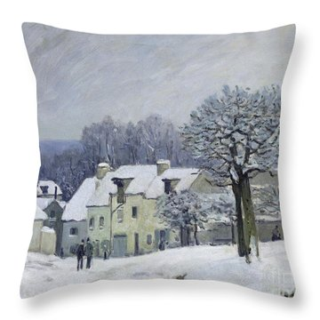The Place Du Chenil At Marly Le Roi Throw Pillow by Alfred Sisley