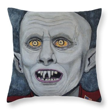 Throw Pillow featuring the painting The Politician. by Ken Zabel