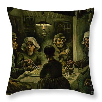 The Potato Eaters, 1885 Throw Pillow by Vincent Van Gogh