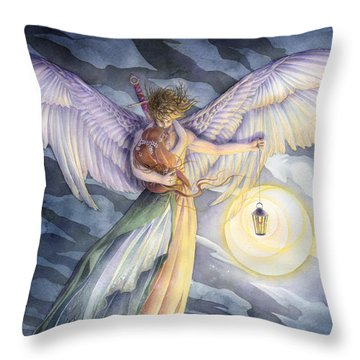 The Protector Throw Pillow by Sara Burrier