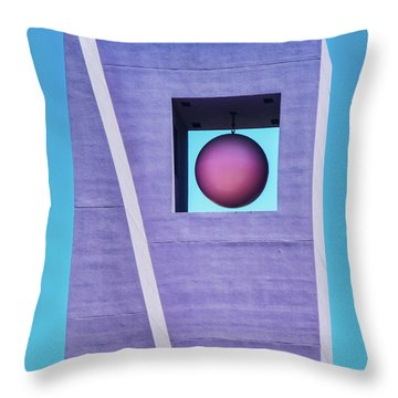 The Purple Tower At Pershing Square Throw Pillow
