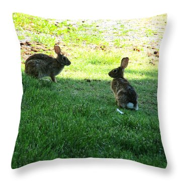 The Rabbit Dance Throw Pillow