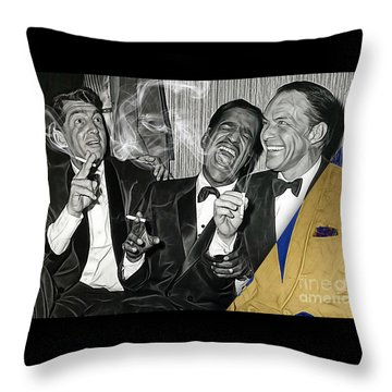 The Rat Pack Collection Throw Pillow by Marvin Blaine