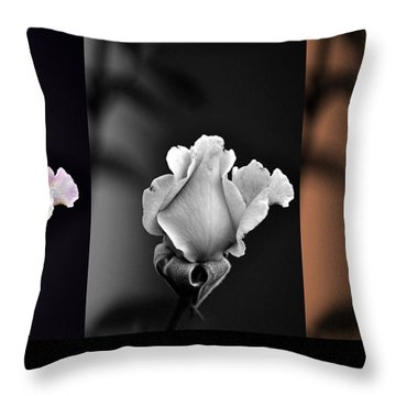The Rose Throw Pillow by Clayton Bruster