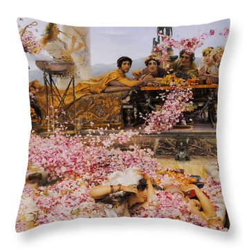The Roses Of Heliogabalus Throw Pillow by Lawrence Alma-Tadema