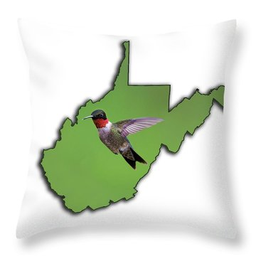 The Ruby-throated Hummingbird Throw Pillow
