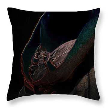 Throw Pillow featuring the photograph The Shadow by Robert D McBain