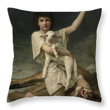The Shepherd David Triumphant Throw Pillow