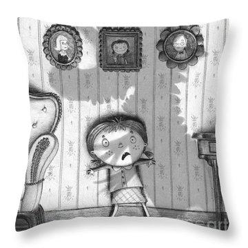 The Snarkle Beast Throw Pillow