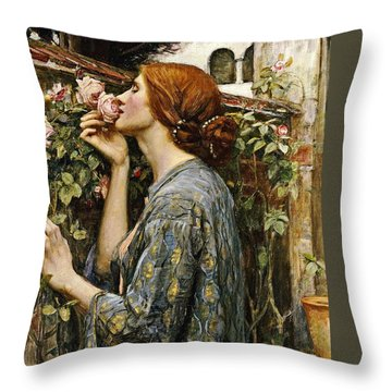 The Soul Of The Rose Throw Pillow