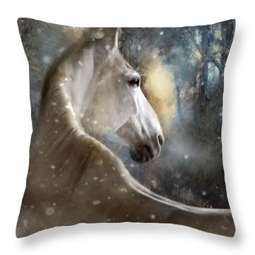 The Spirit Of Winter Throw Pillow