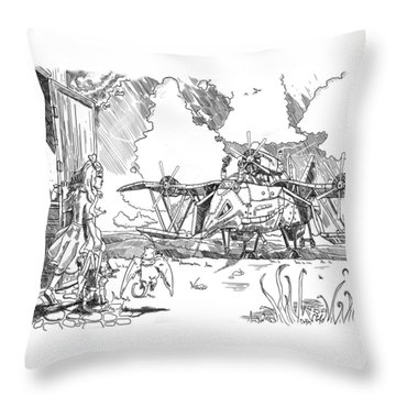 The Thingamajig Throw Pillow by Reynold Jay