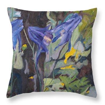 The Three Columbines  Throw Pillow by Francois Fournier