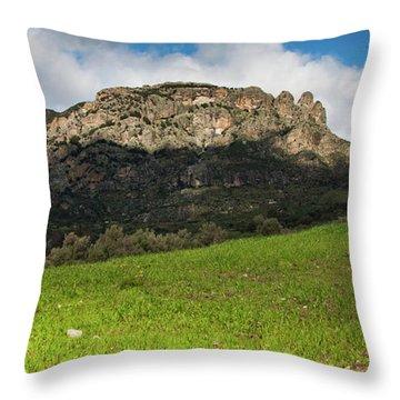 The Three Finger Mountain Throw Pillow